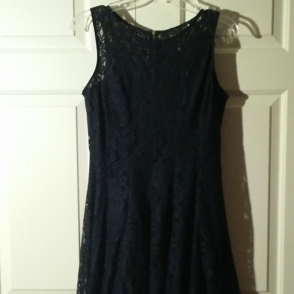 Dress Barn Dresses & Skirts - !!!LIKE NEW!!! Dress Barn Navy Lace Dress